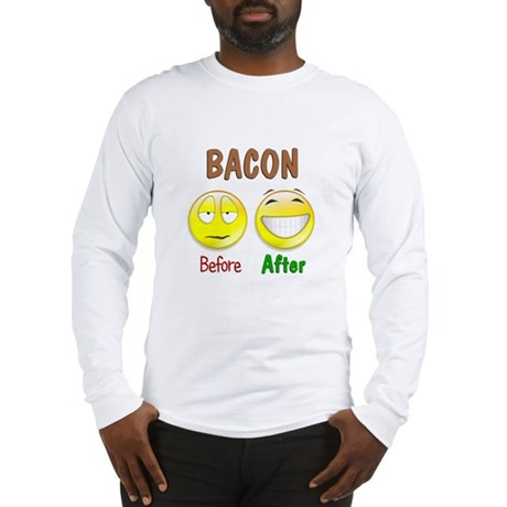 Bacon Humor Long Sleeve T-Shirt