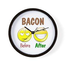 Bacon Humor Wall Clock