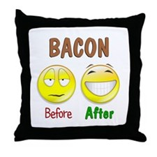 Bacon Humor Throw Pillow