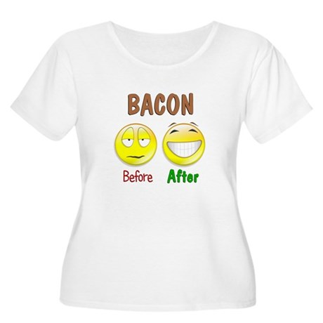 Bacon Humor Women's Plus Size Scoop Neck T-Shirt