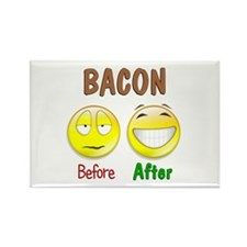 Bacon Humor Rectangle Magnet