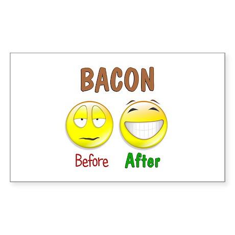 Bacon Humor Sticker (Rectangle)