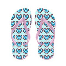 I heart Swimming and Water Waves Flip Flops