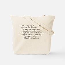 StubbyDog Poem Tote Bag