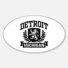 Detroit Michigan Sticker (Oval)