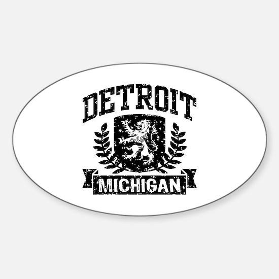 Detroit Michigan Sticker (Oval)