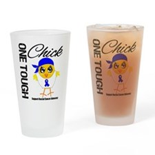 Rectal Cancer OneToughChick Drinking Glass