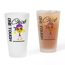 Pancreatic Cancer OneToughChick Drinking Glass