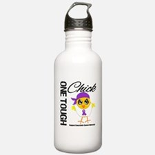 Pancreatic Cancer OneToughChick Water Bottle