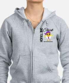 Pancreatic Cancer OneToughChick Zip Hoodie