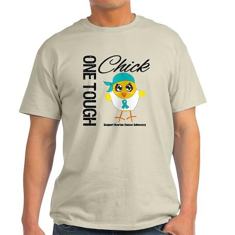 Ovarian Cancer OneToughChick Light T-Shirt