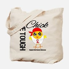 Oral Cancer One Tough Chick Tote Bag