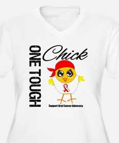 Oral Cancer One Tough Chick T-Shirt