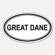 Great Dane Euro Oval Decal