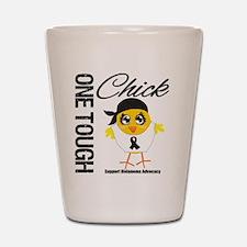 Melanoma One Tough Chick Shot Glass