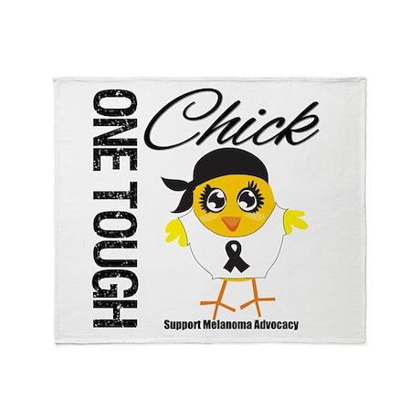 Melanoma One Tough Chick Throw Blanket