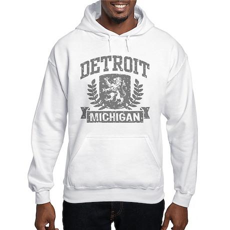 Detroit Michigan Hooded Sweatshirt