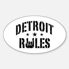 Detroit Rules Decal