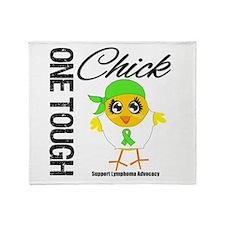 Lymphoma One Tough Chick Throw Blanket