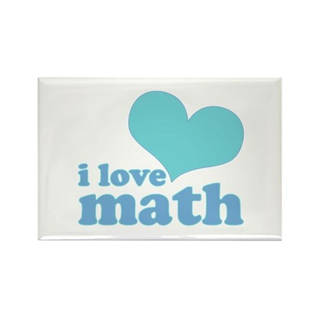 I Love Math (blue) Rectangle Magnet (100 pack)