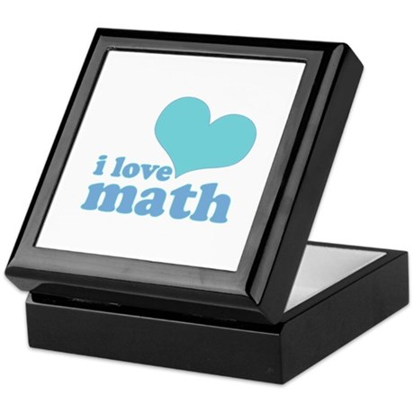 I Love Math (blue) Keepsake Box