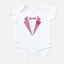 Funny Pink Tuxedo Infant Bodysuit