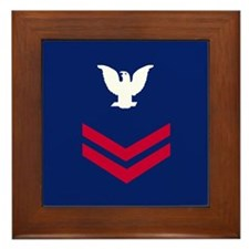 Petty Officer Second Class Framed Tile