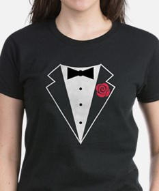 Funny Tuxedo [red rose] Tee