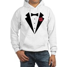 Funny Tuxedo [red rose] Hoodie