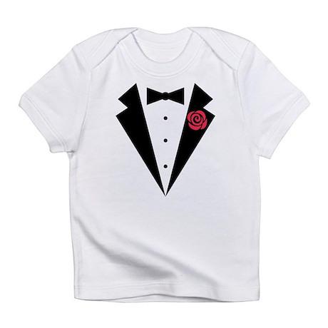 Funny Tuxedo [red rose] Infant T-Shirt