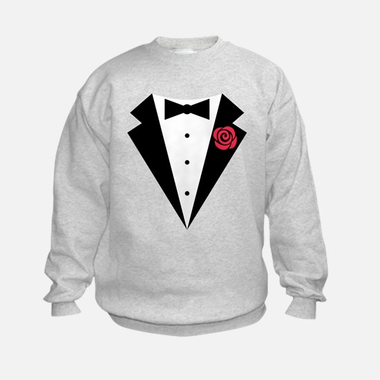 Funny Tuxedo [red rose] Jumpers