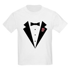 Funny Tuxedo [pink rosebud] T-Shirt