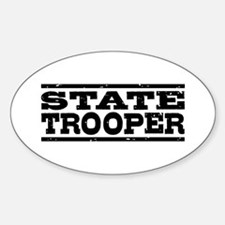 State Trooper Oval Decal