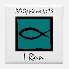 Christian Runner's Tile Coaster