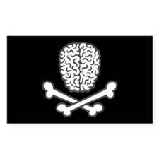 Brain & Crossbones Decal