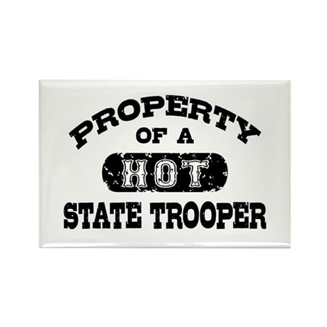 Property of a Hot State Trooper Rectangle Magnet