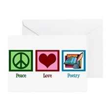 Peace Love Poetry Greeting Card