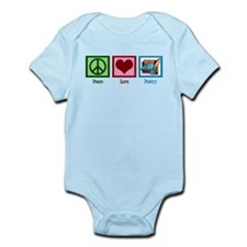 Peace Love Poetry Infant Bodysuit