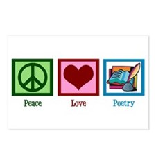 Peace Love Poetry Postcards (Package of 8)