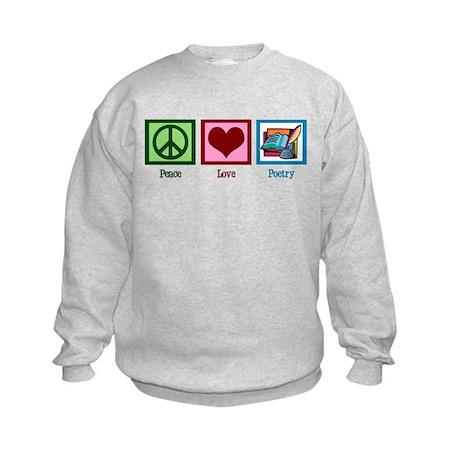 Peace Love Poetry Kids Sweatshirt