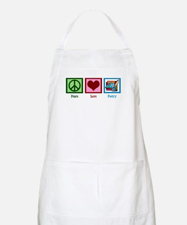 Peace Love Poetry Apron