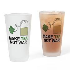 Make Tea Not War Drinking Glass