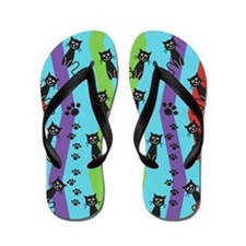 Funky Funny Cats Flip Flops
