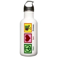 Peace Love Kwanzaa Water Bottle