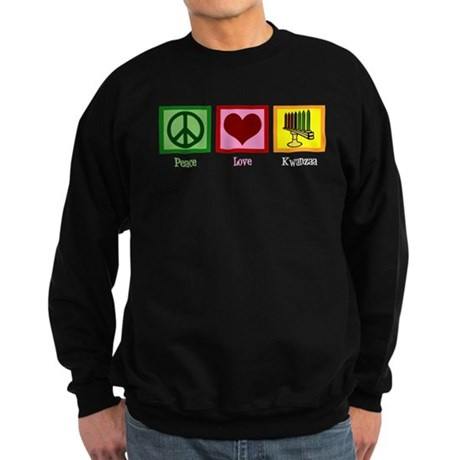 Peace Love Kwanzaa Sweatshirt (dark)