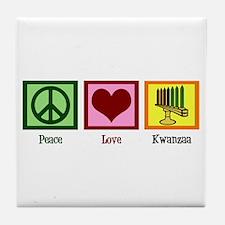 Peace Love Kwanzaa Tile Coaster
