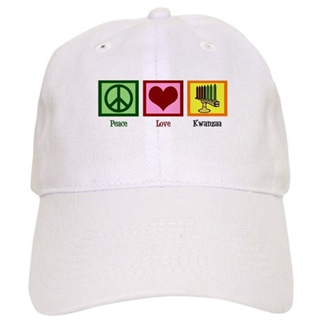 Peace Love Kwanzaa Cap