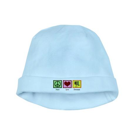 Peace Love Kwanzaa baby hat