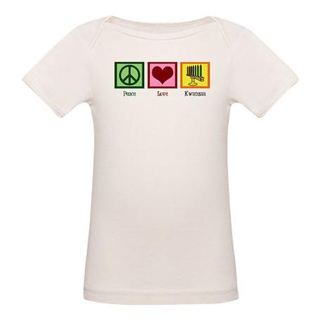 Peace Love Kwanzaa Organic Baby T-Shirt