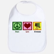 Peace Love Kwanzaa Bib